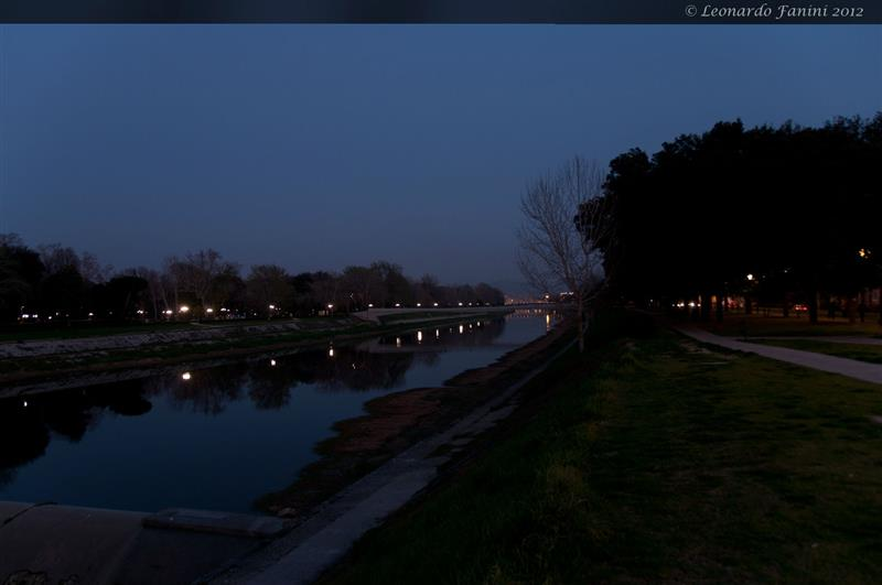 Subito dopo il tramonto, Firenze alle Cascine.  Just after the sunset on the Arno River in Florence