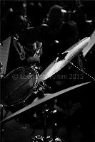 black and white fine art drum and cymbals