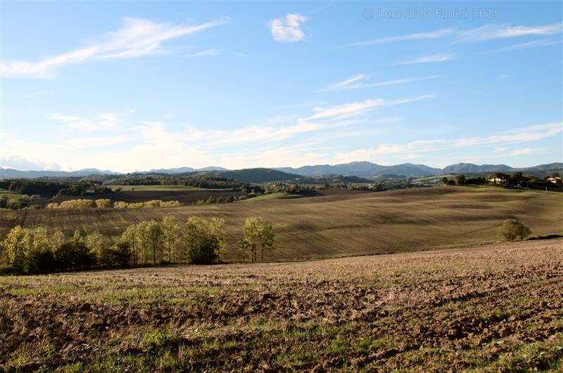 the view of the country near Cafaggiolo