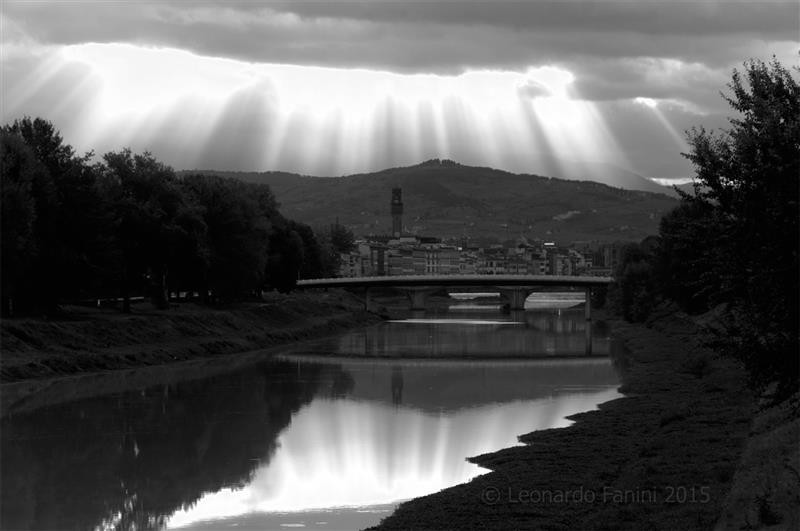 Firenze illuminata dal sole