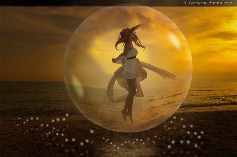 Immagine creativa di fantasia con una foto di Michelle