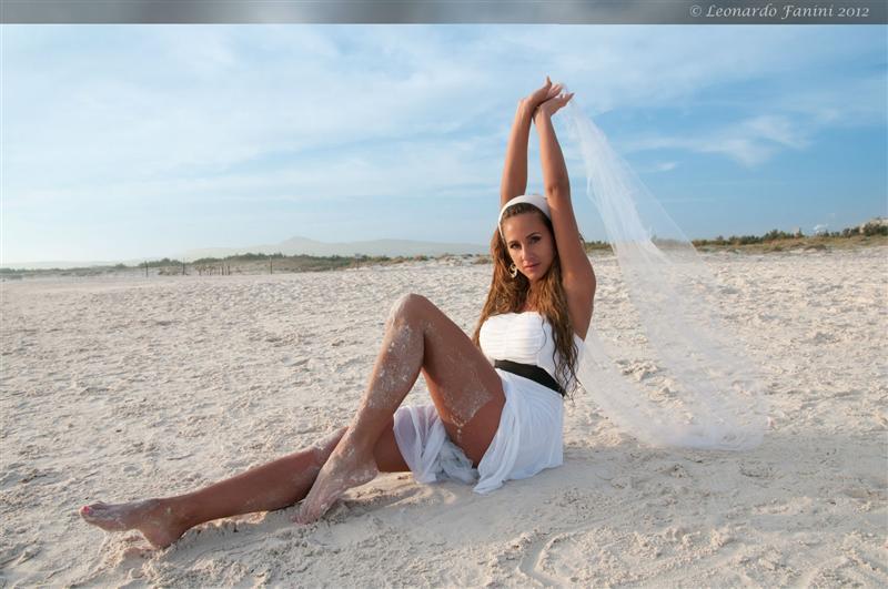 Glamour in spiaggia con Michelle a Vada